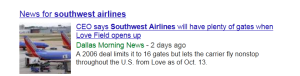 News Results - Southwest Airlines